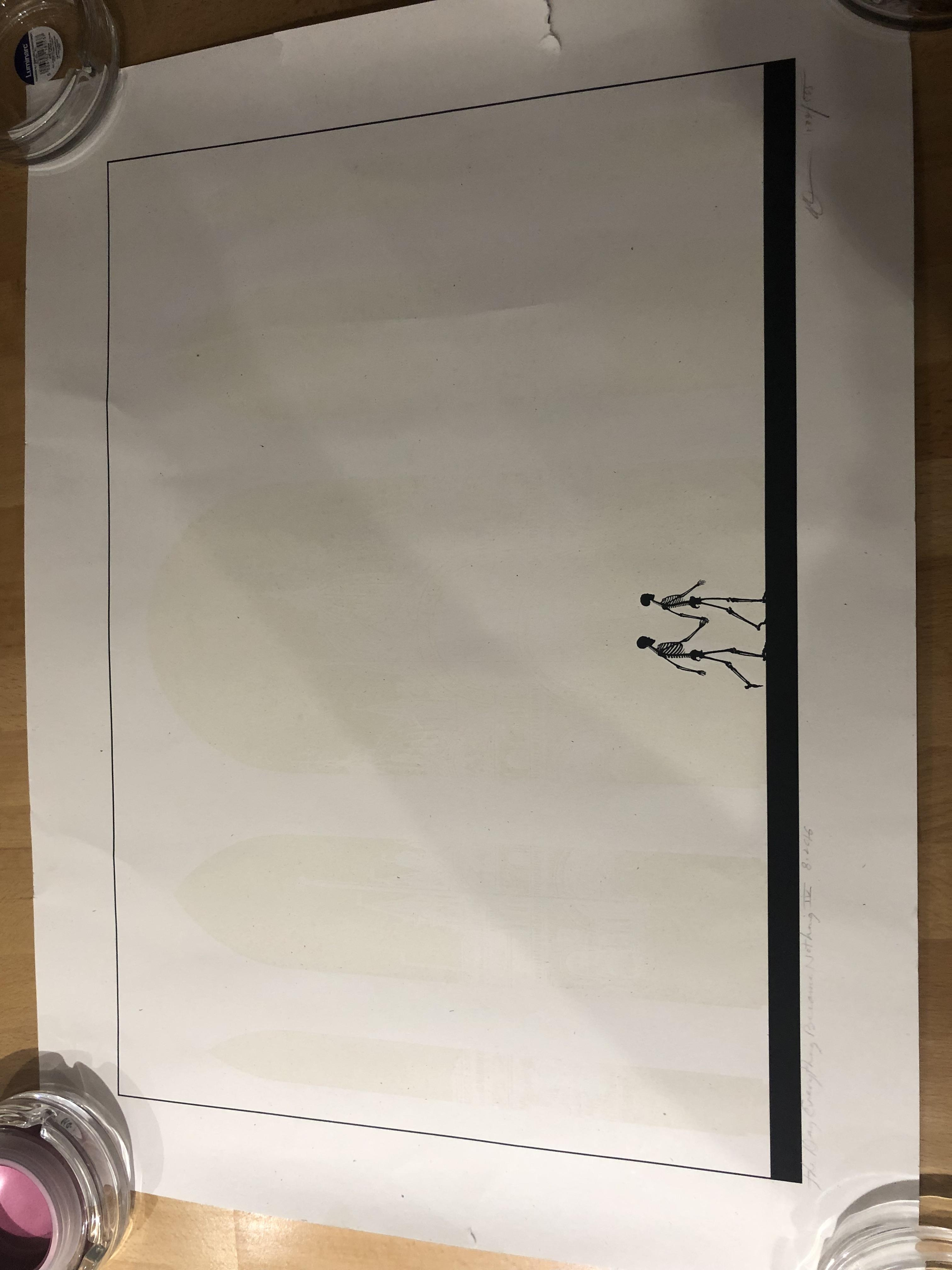 Lot 35 - Dan Mcarthy signed print The Way Everything Becomes Nothing IV