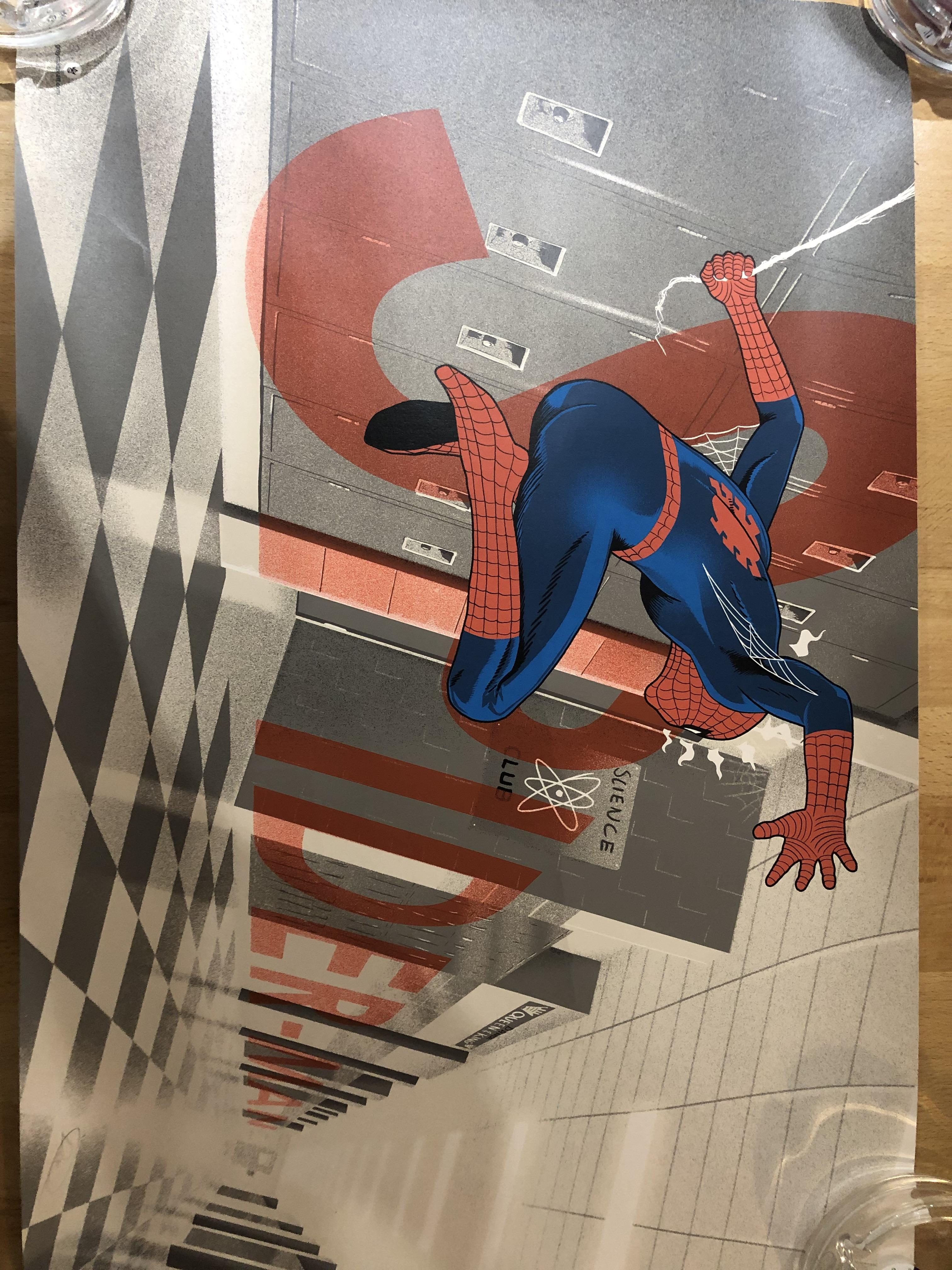 Lot 36 - Doaly Spiderman signed print
