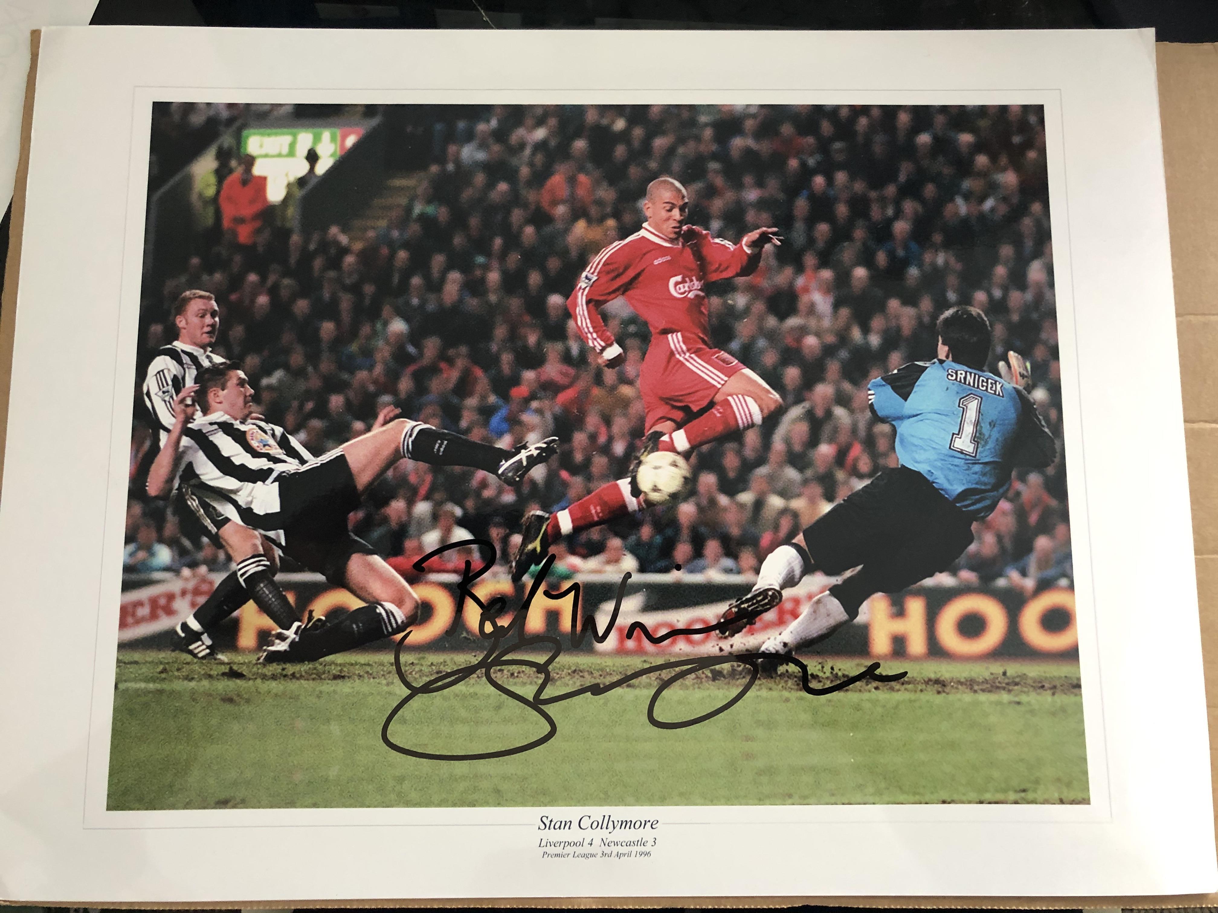 Lot 20 - 4 sporting photos signed, genuine signature.