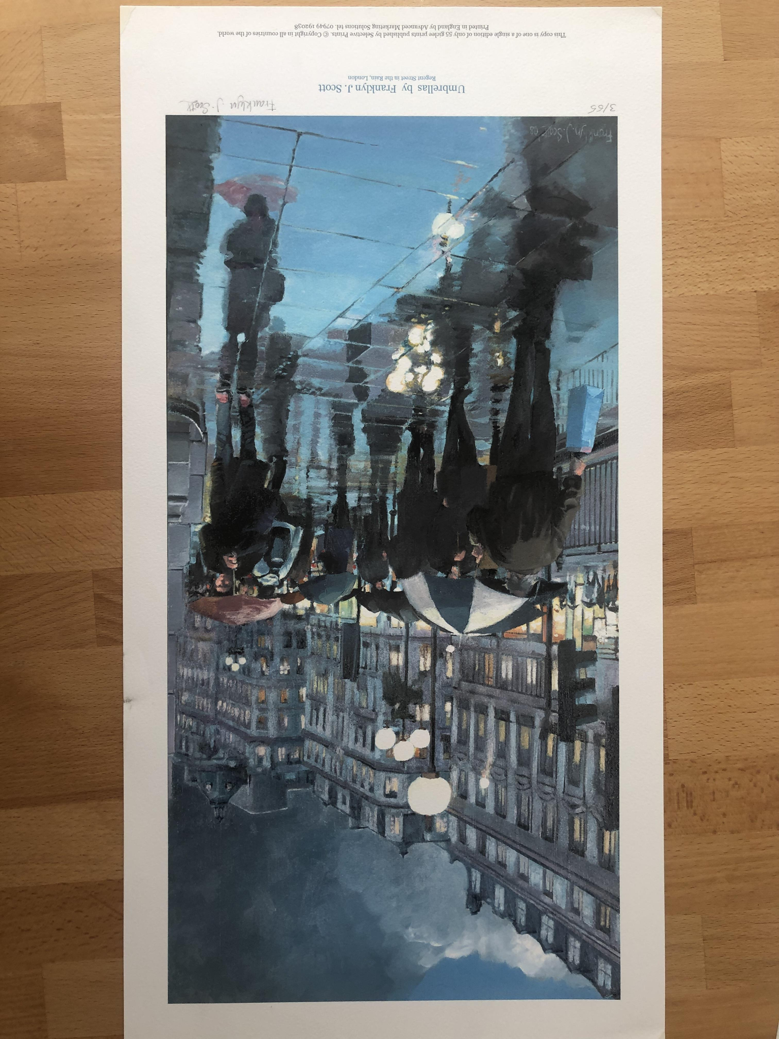Lot 23 - Franklyn J Scott Limited Edition Prints Signed. 2 x Umbrellas