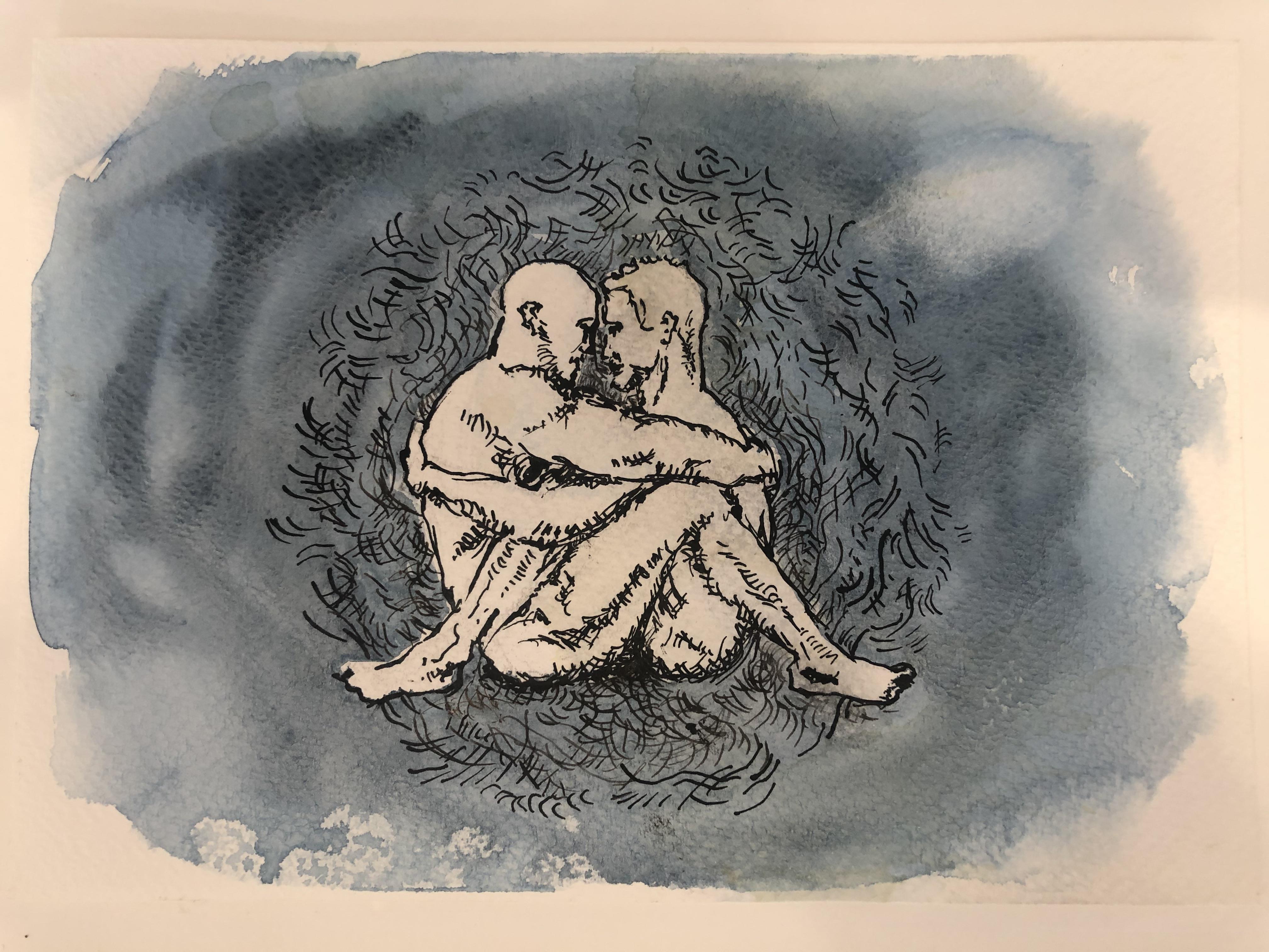 Lot 28 - Original artwork, L'Armour Bleu.