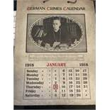 1918 German Crimes Calendar