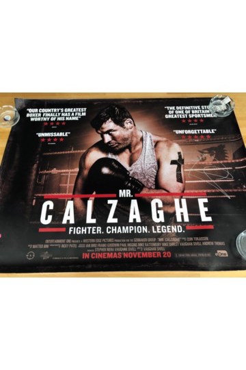Lot 15 - Joe Calzaghe Signed Poster, Mr Calzaghe