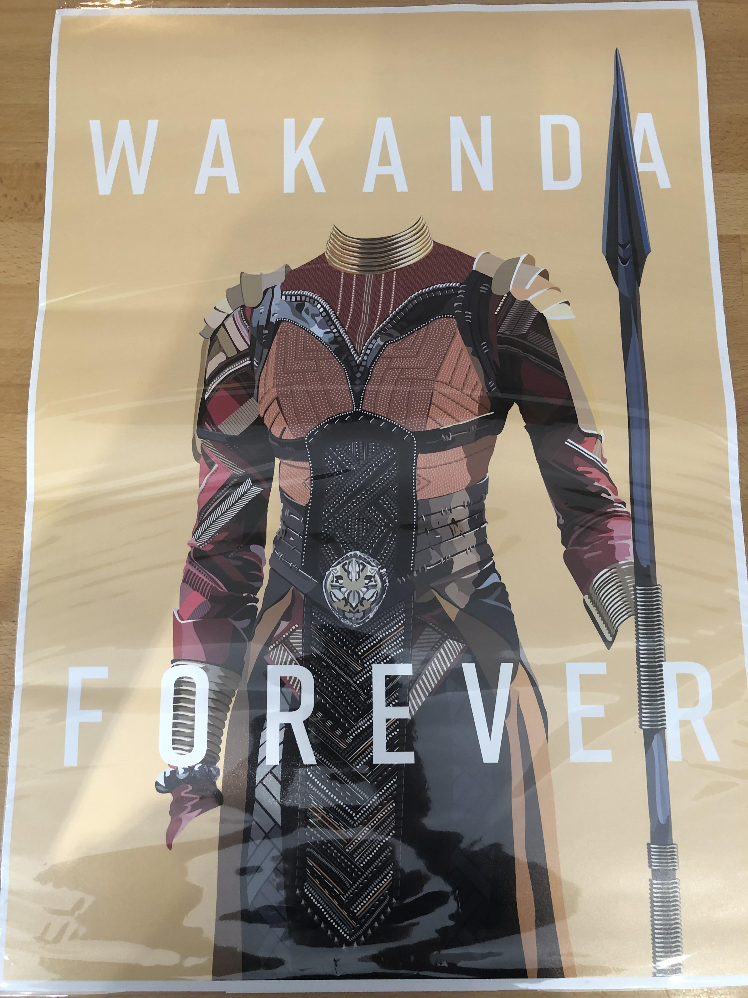 Lot 31 - Black Panther Posters x 3.