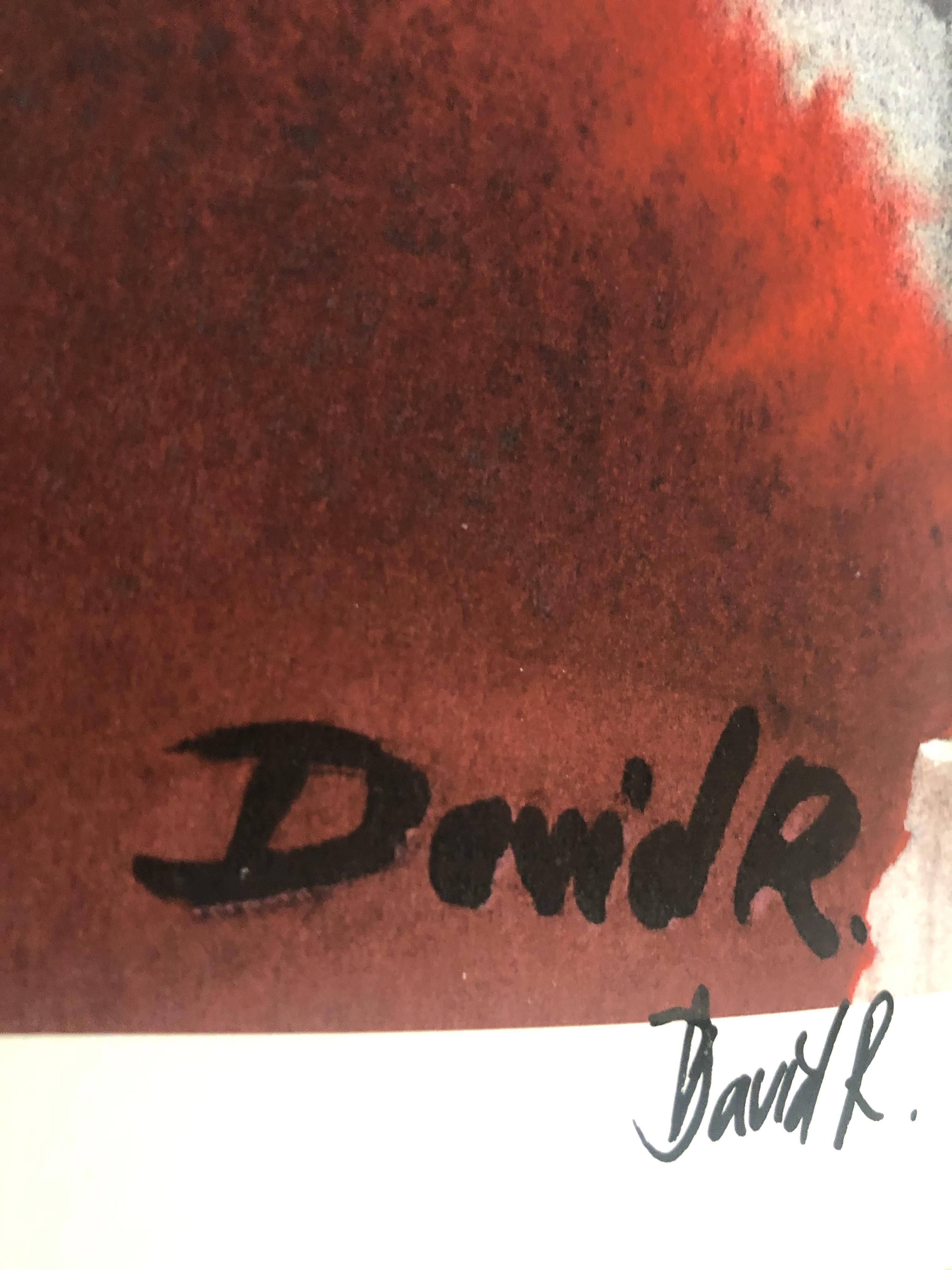 Lot 48 - David Roman signed print of Matt Fraser.