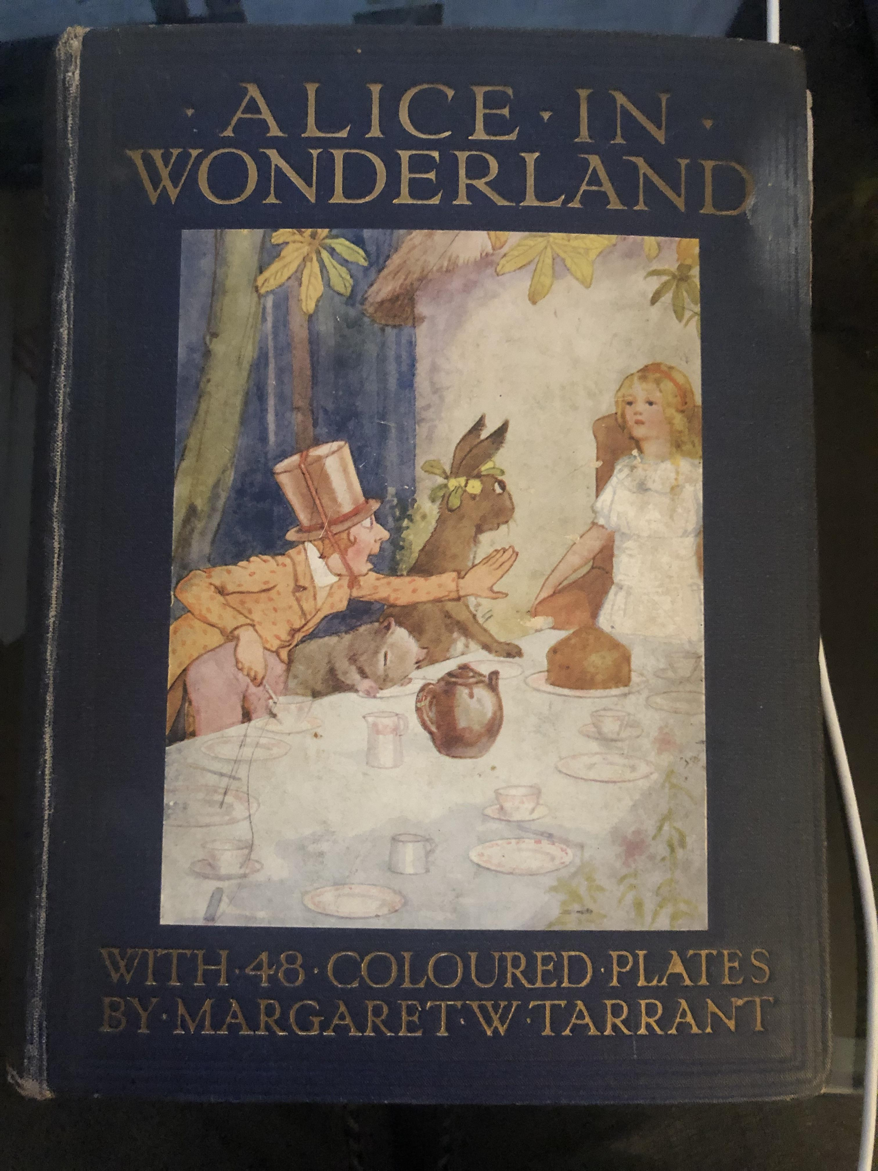 Lot 54 - Alice in Wonderland with 48 coloured plates by Margaret W Tarrant