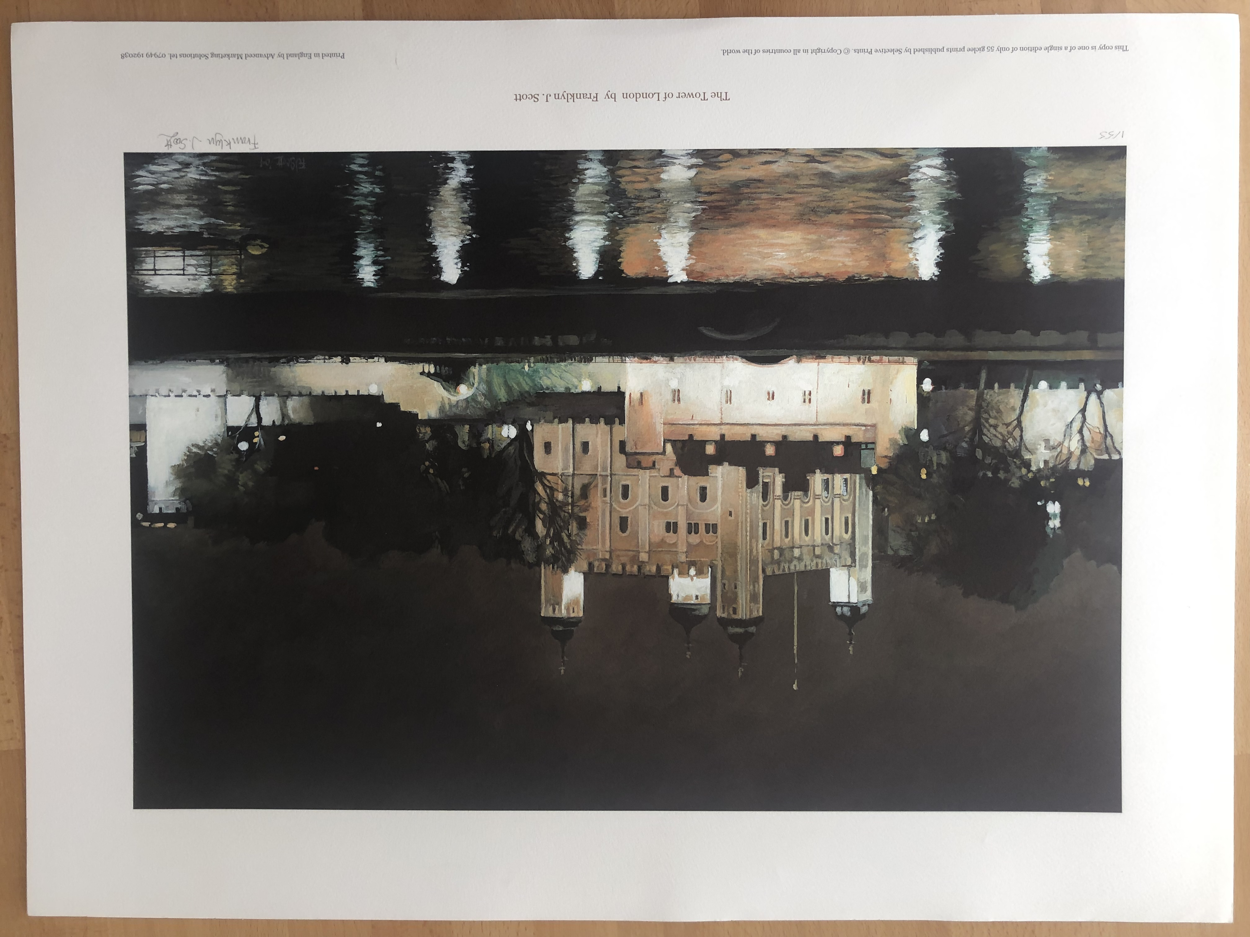 Lot 24 - Franklyn J Scott Limited Edition Prints Signed. 4 x The Tower Of London