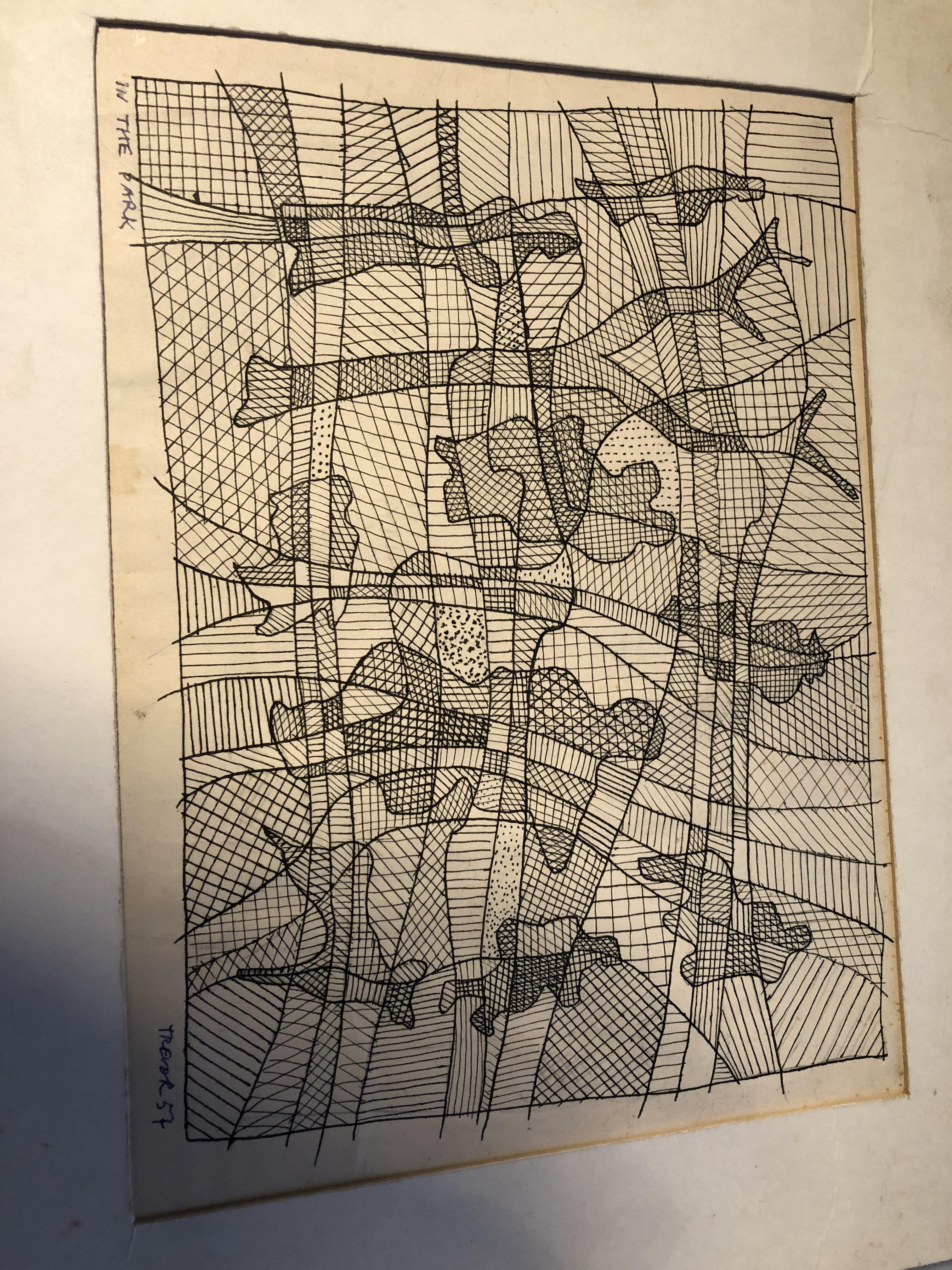 Lot 9 - Professor Trevor Thomas hand sketches and correspondence RE: Poet Sylvia Plath