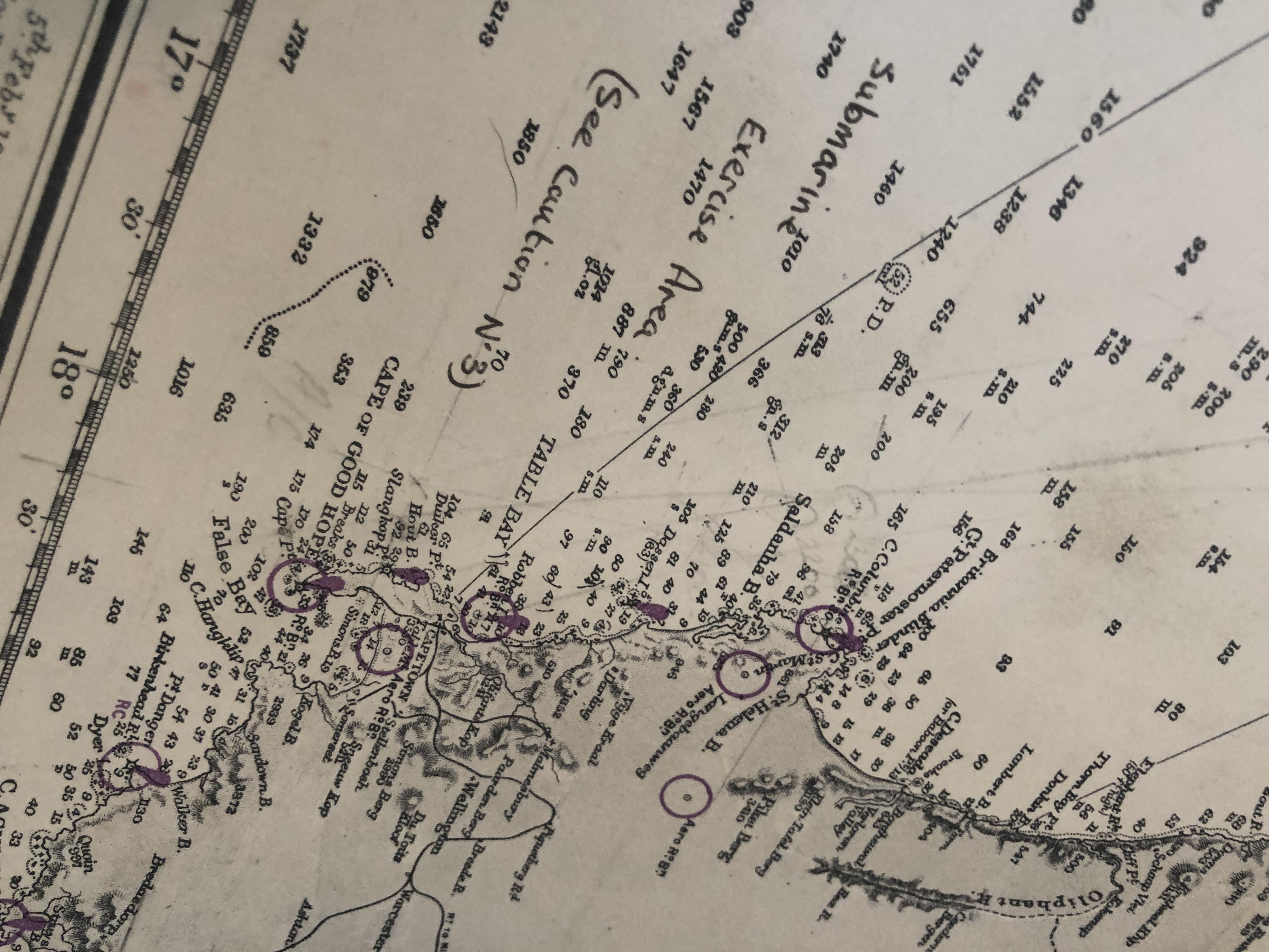 Lot 10 - Large Map, Cape Lopez to Cape of Good Hope.