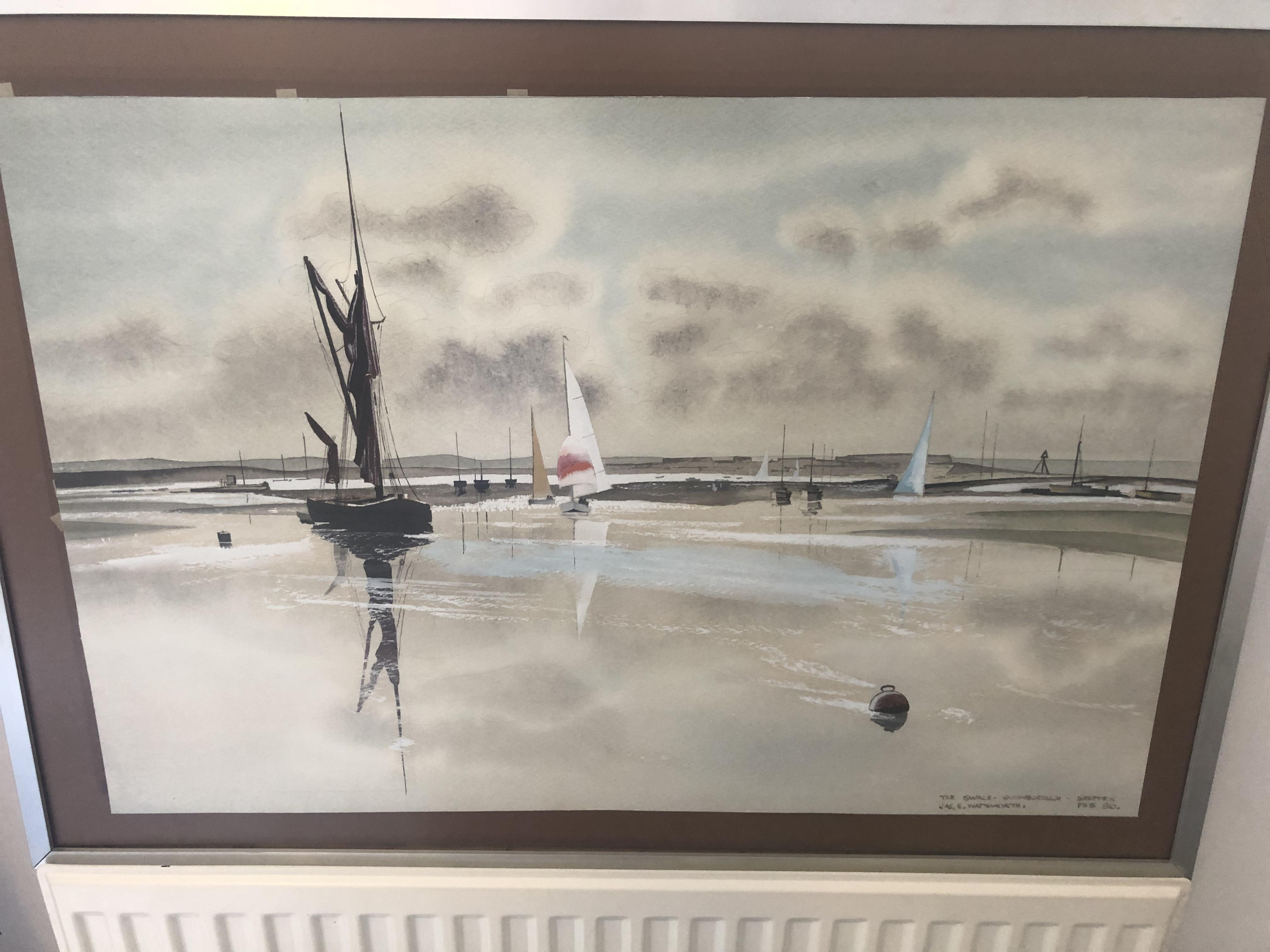 Lot 11 - Original Painting by Jas.E.Wadsworth, The Swale 1980.