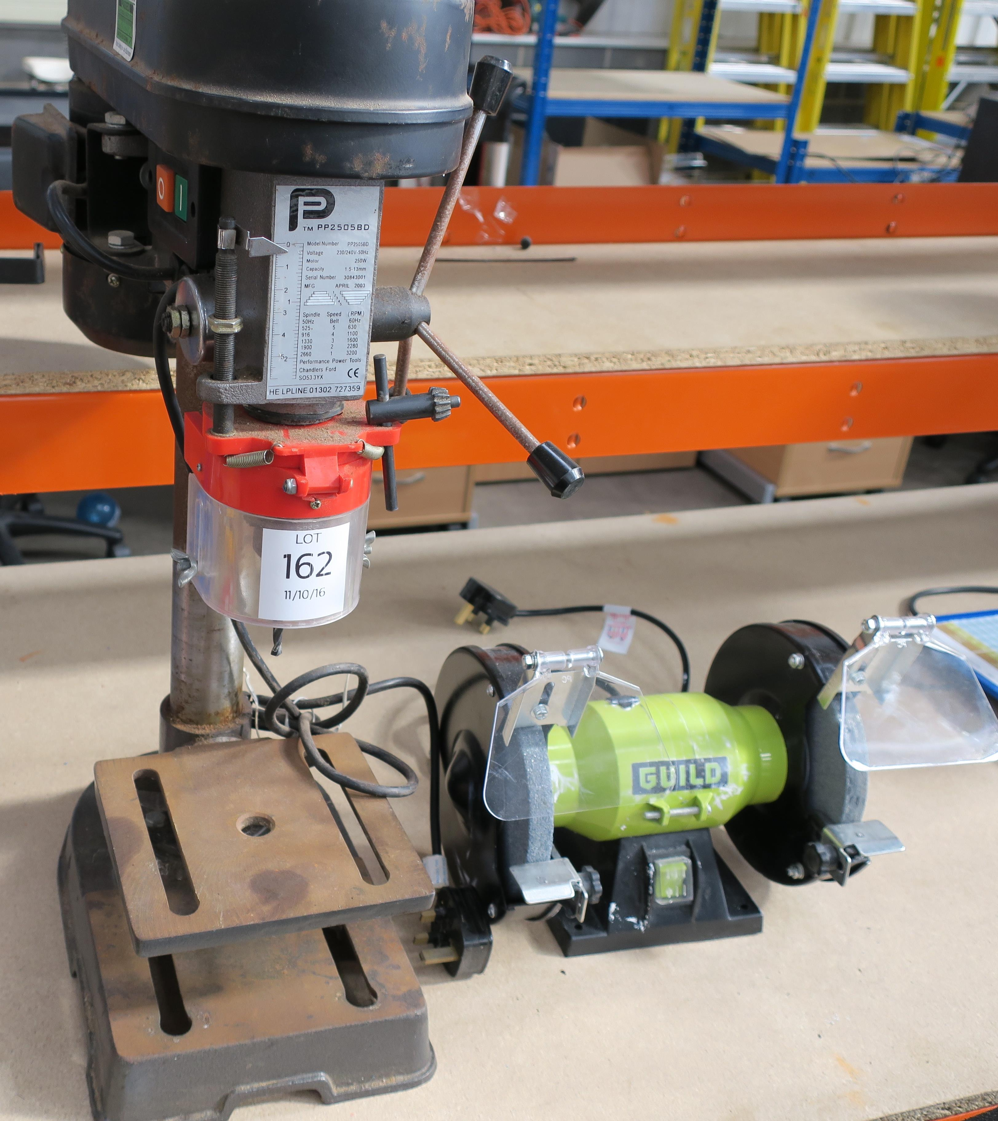 A Small 240v Powermate Pillar Drill And A Guild Twin