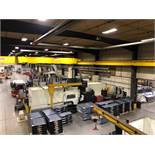 "Viper Pro 4210 AG Bridge Type CNC Vertical Milling Center, 163"" x 78"" Table, Right Angle Head, 40ATC"