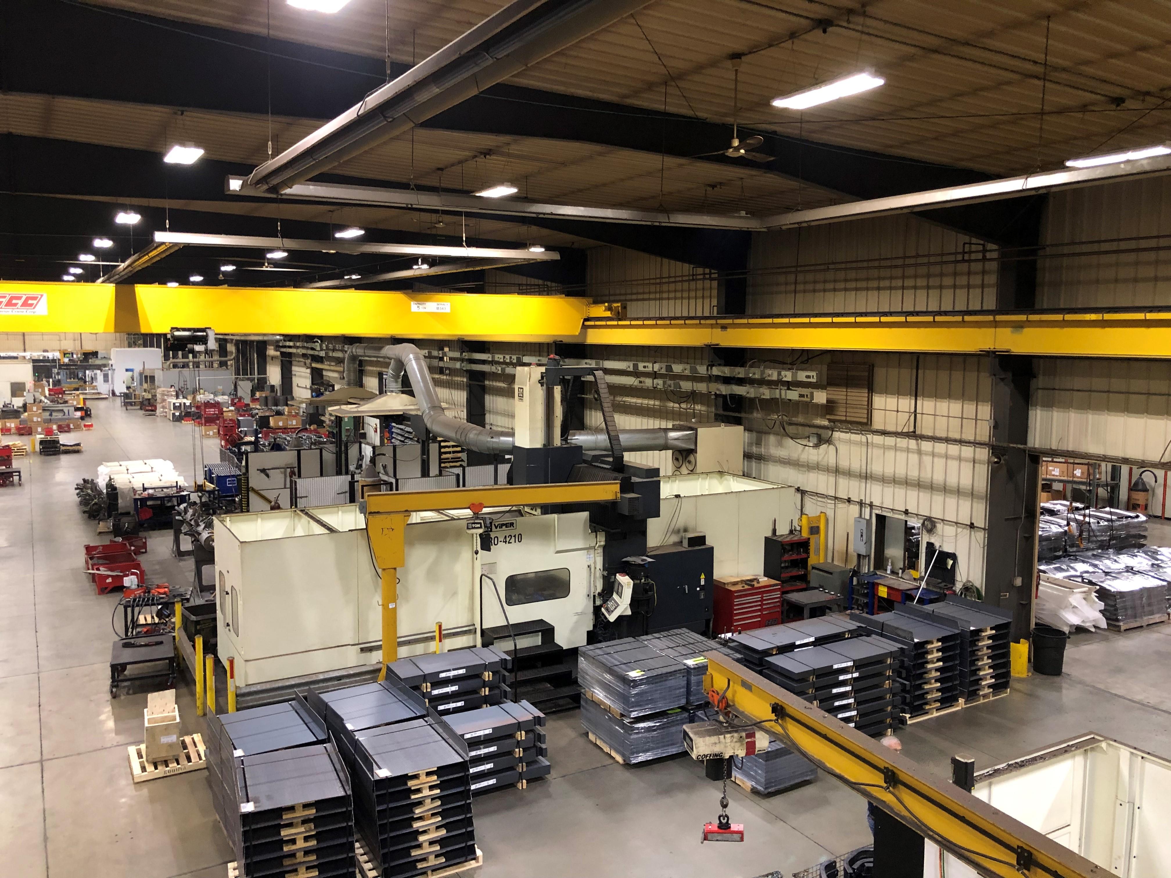 "Viper Pro 4210 AG Bridge Type CNC Vertical Milling Center, 163"" x 78"" Table, Right Angle Head, 40ATC"
