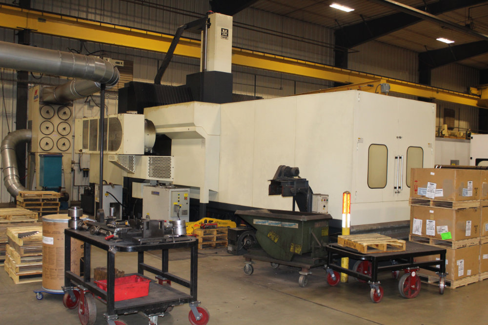 """Viper Pro 4210 AG Bridge Type CNC Vertical Milling Center, 163"""" x 78"""" Table, Right Angle Head, 40ATC - Image 3 of 11"""