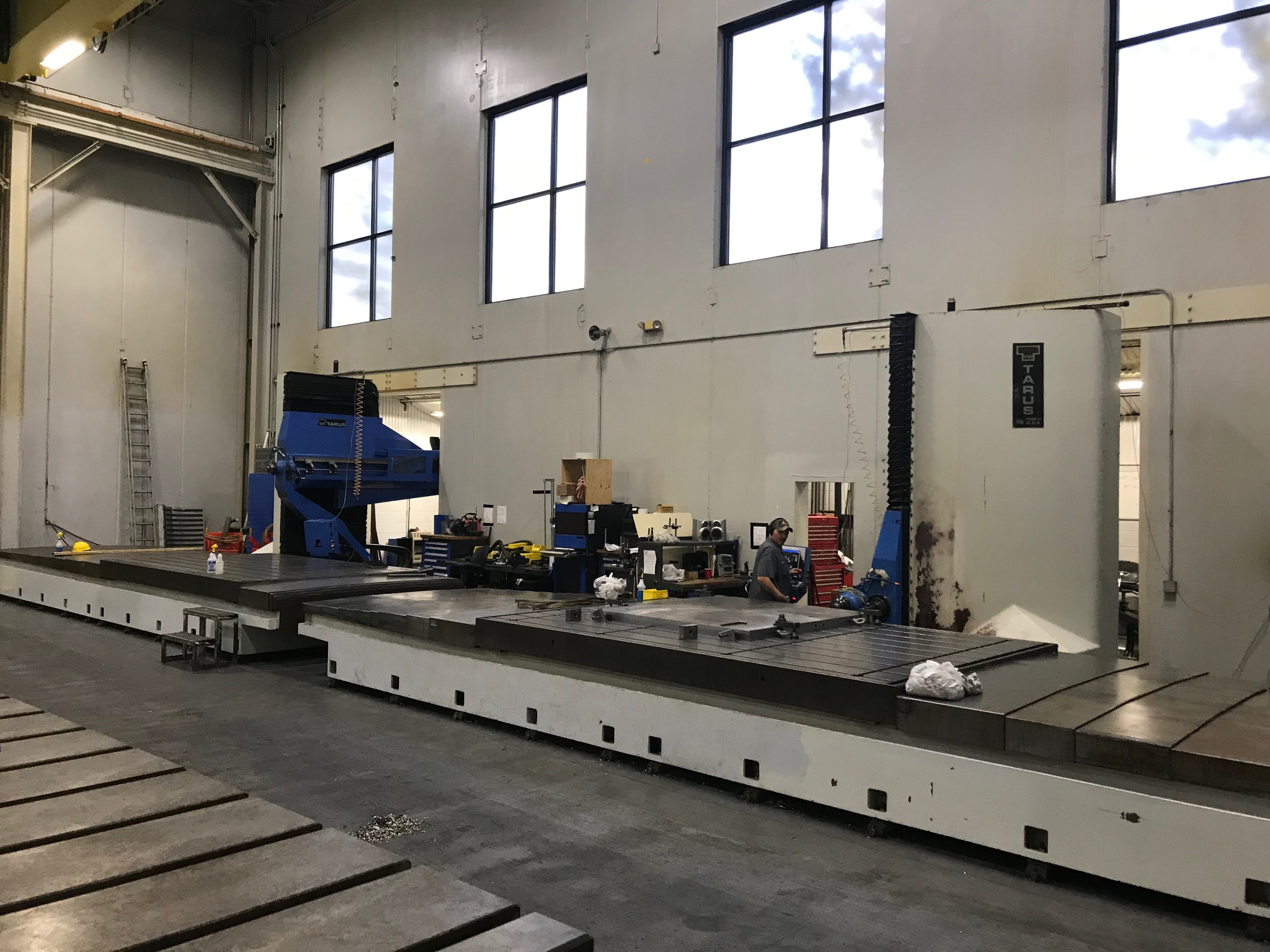 TARUS MODEL TPTCGD512S, 4-AXIS Dual CNC Gun Drilling System (sharing a Centralized Coolant System)