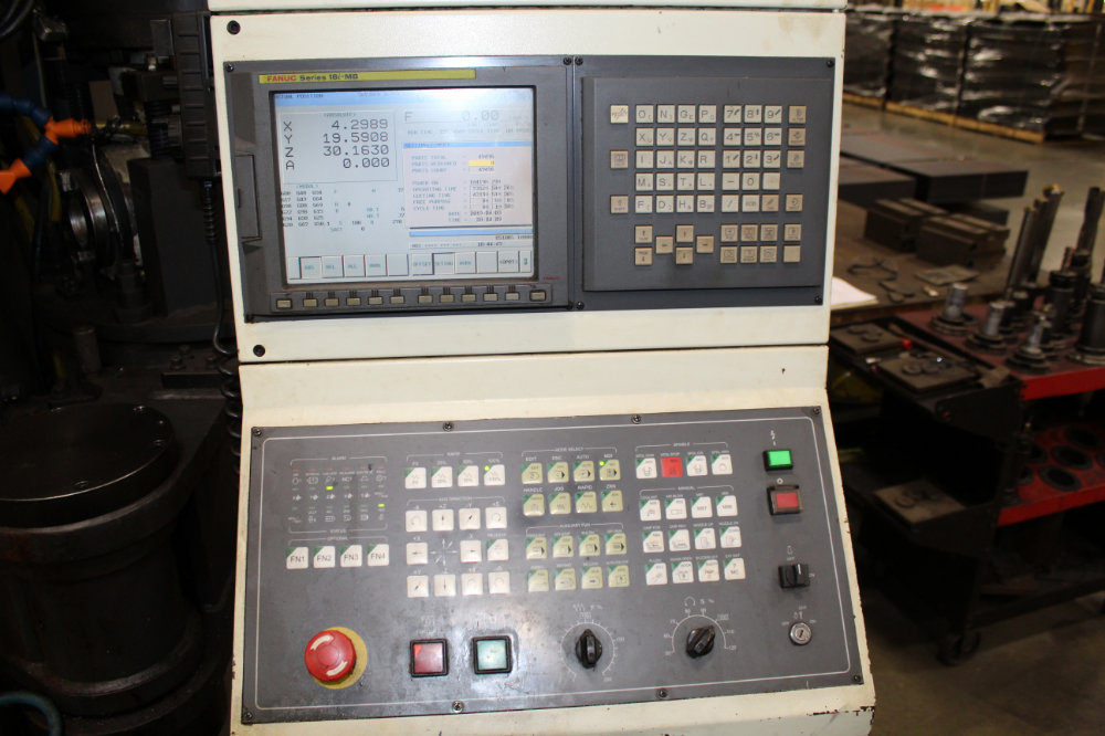 """Viper Pro 4210 AG Bridge Type CNC Vertical Milling Center, 163"""" x 78"""" Table, Right Angle Head, 40ATC - Image 5 of 11"""
