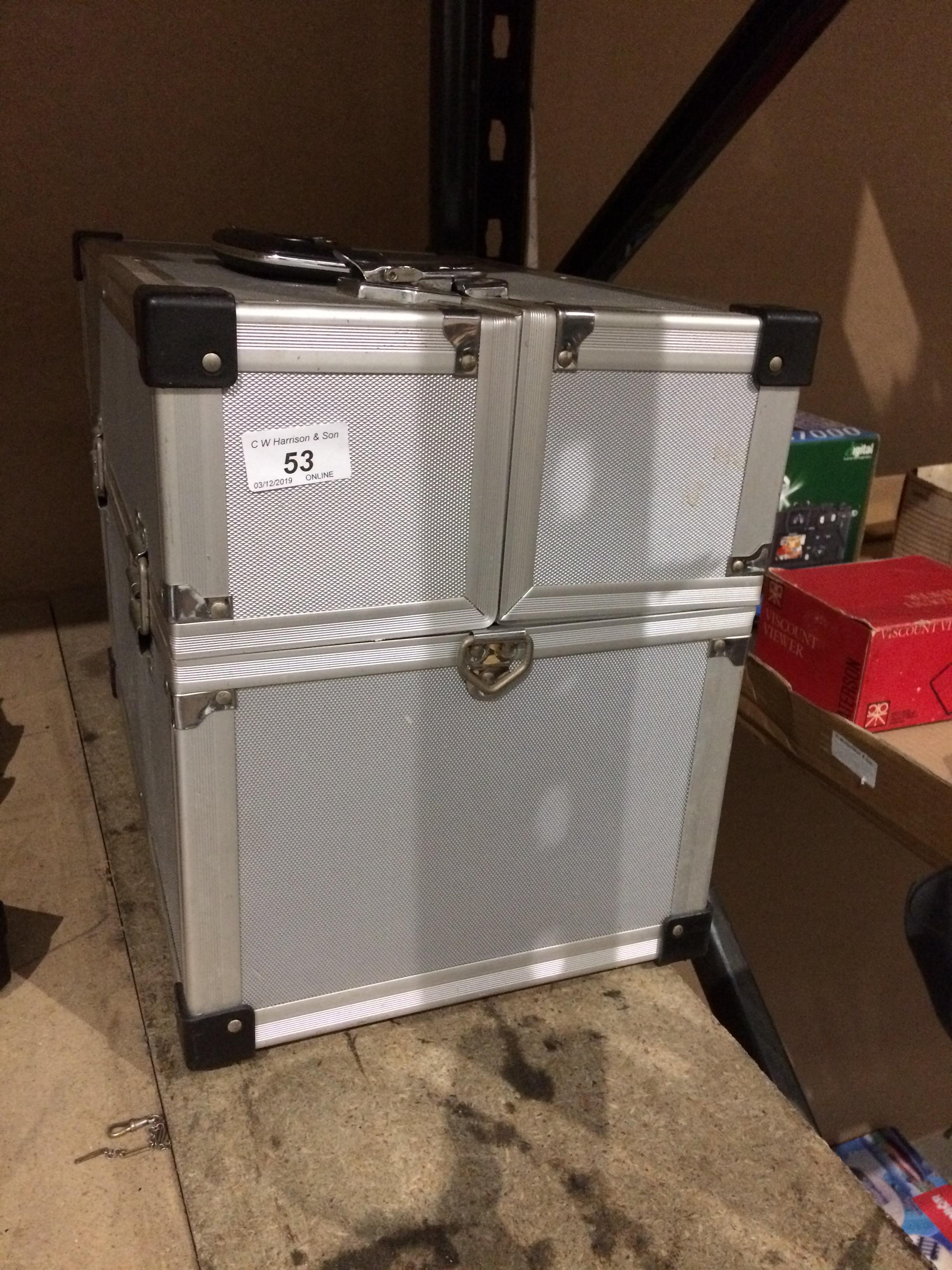 Lot 53 - Aluminium camera travel case