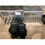 2 x items - Mamiya Sekor 135mm F/4.5 lens - boxed, and a Mamiya Sekor 80mm F/2.