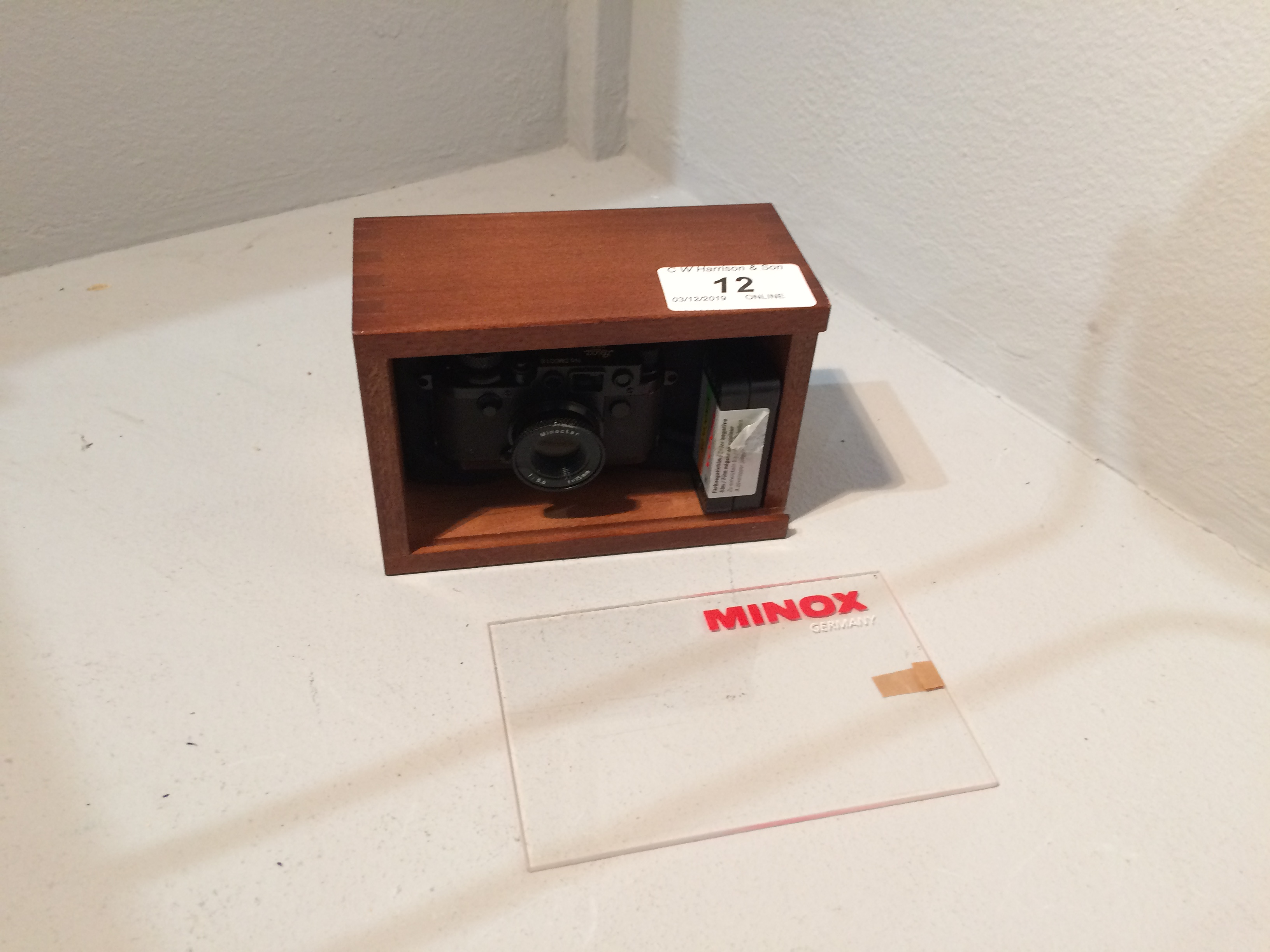 Lot 12 - Minox Camera Collections miniature Leica No. DM80018 camera Minoctar 1..5.