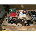Contents to tray - Contax camera, Medallion 8 film camera, Photavit Phutavit camera,