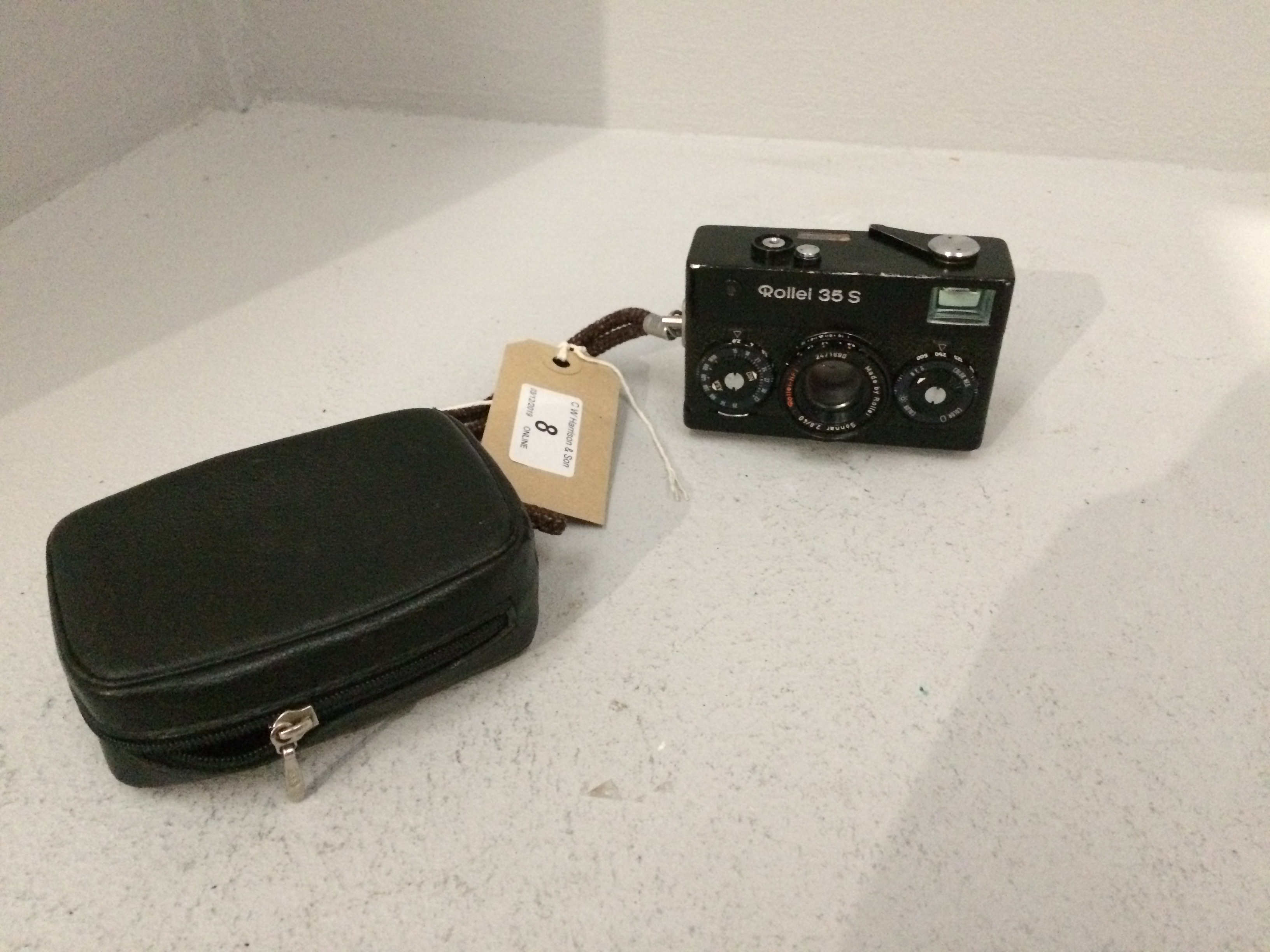 Lot 8 - Rollei 35S camera complete with case
