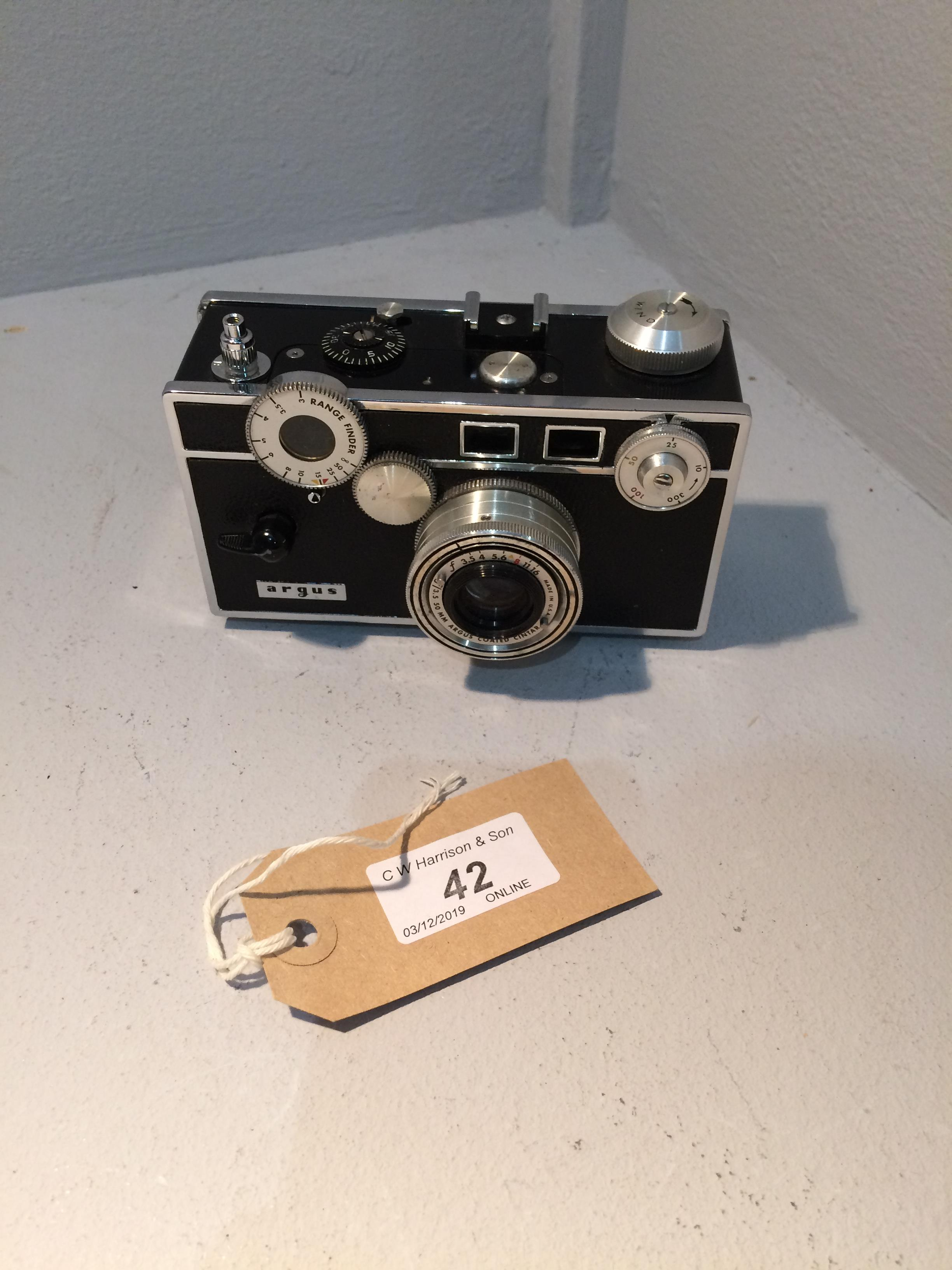 Lot 42 - Argus 1528022 camera