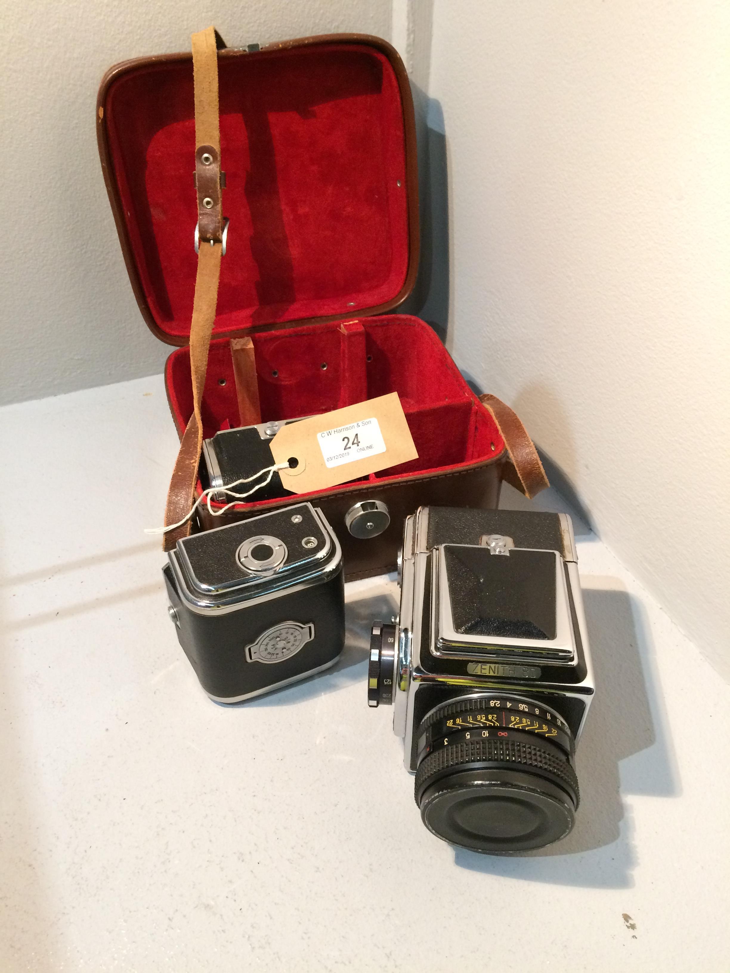 Lot 24 - Zenith 80 movie camera with BOAHA 3 2.