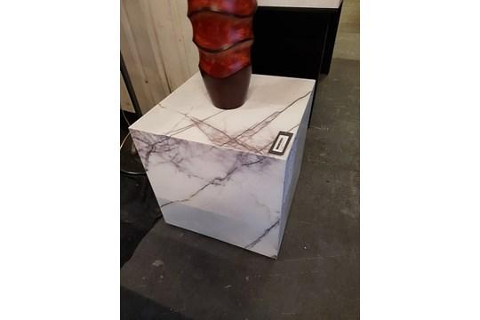 Lot 43 - Apollo Moonstone Side Table Alabaster 50 x 50 x 50 cm RRP £1360