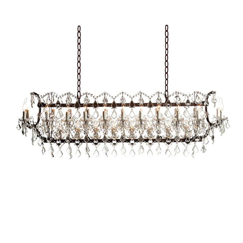 Lot 58 - Crystal Rectangular Chandelier Antique Rust (UK) The Iconic Crystal Chandelier Is A True Testament