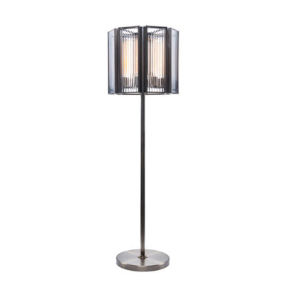 Lot 64 - Elixir Floor Lamp (UK) The Elixir Range Was Inspired By 1930's Strict Geometrical Glass And Brass