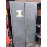 METAL CABINET, 2-door, w/contents