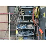 LOT CONSISTING OF: hose & electrical cable (on one shelf)
