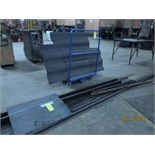 ROLLING CART, w/misc. steel