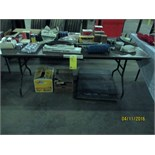 LOT CONSISTING OF: truck parts, engine oil, mud flaps (on folding table)