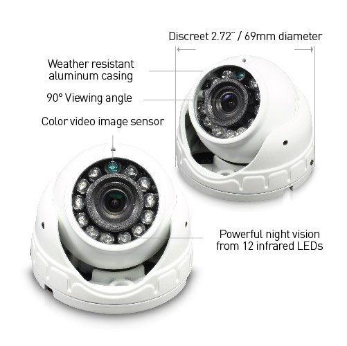 Lot 50017 - V Grade A/B Swann SW-1080FLD 1080P Dome Security Camera - Weather Resistant Casing- 90 degree