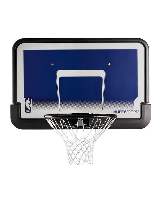 """Lot 50477 - V Brand New Spalding 44"""" Eco-Composite NBA BasketBall Hoop with Back Board *ITEM IS BLUE AND"""