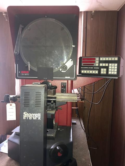 Lot 12A - STARRETT MODEL SIGMA HB400 OPTICAL COMPARATOR