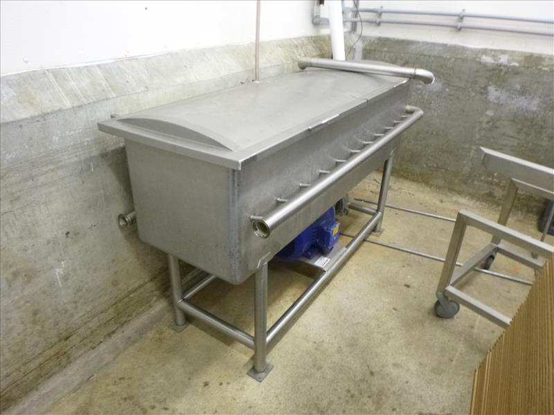 Lot 1042 - s/s parts cleaning tank c/w pump, & lid(Upper Packaging)