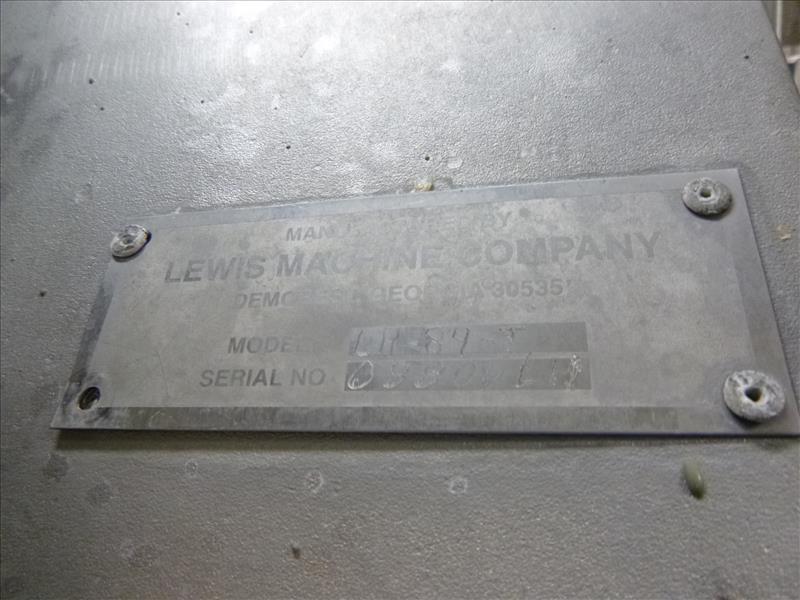 Lot 1015 - Lewis s/s hock cutter, model LH84-T, ser. no. 08808LH, c/w (3) 2 h.p. circular blade cutters, (