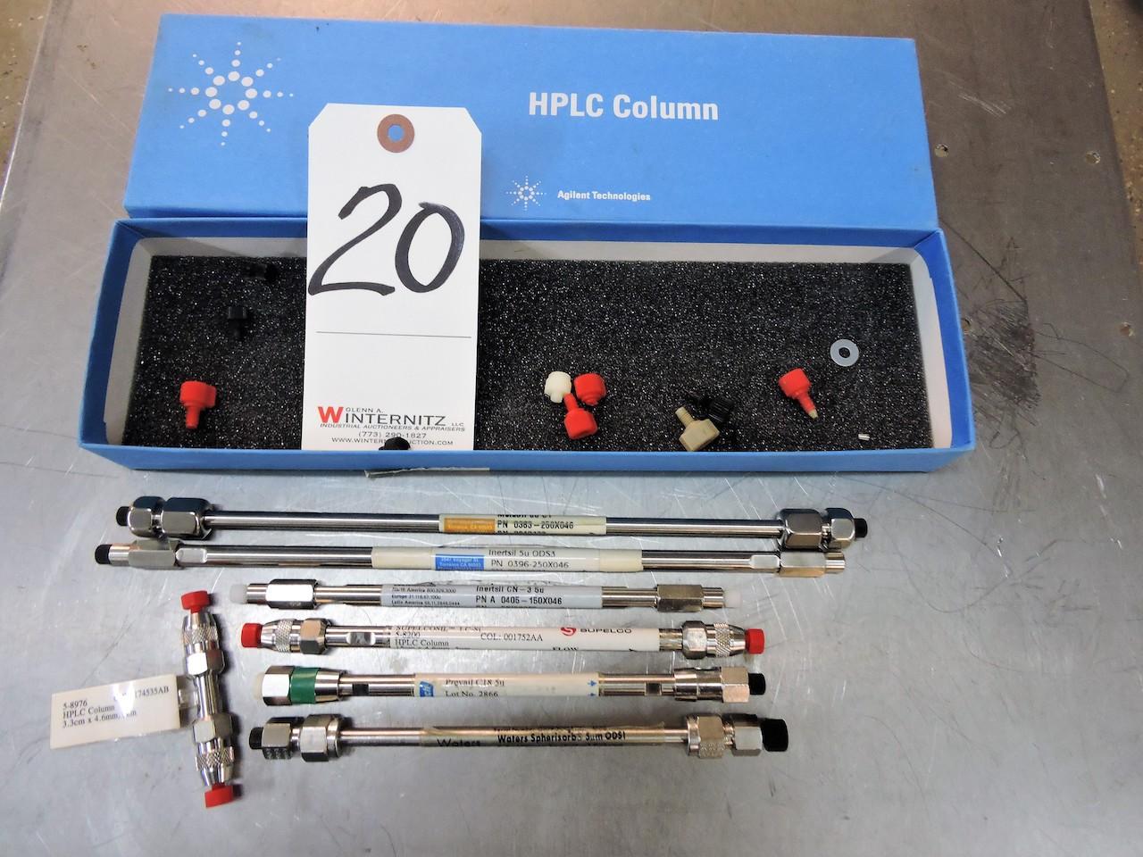 Lot 20 - AGITEST COLUMN SET HPLC 15 PIECES IN BOX