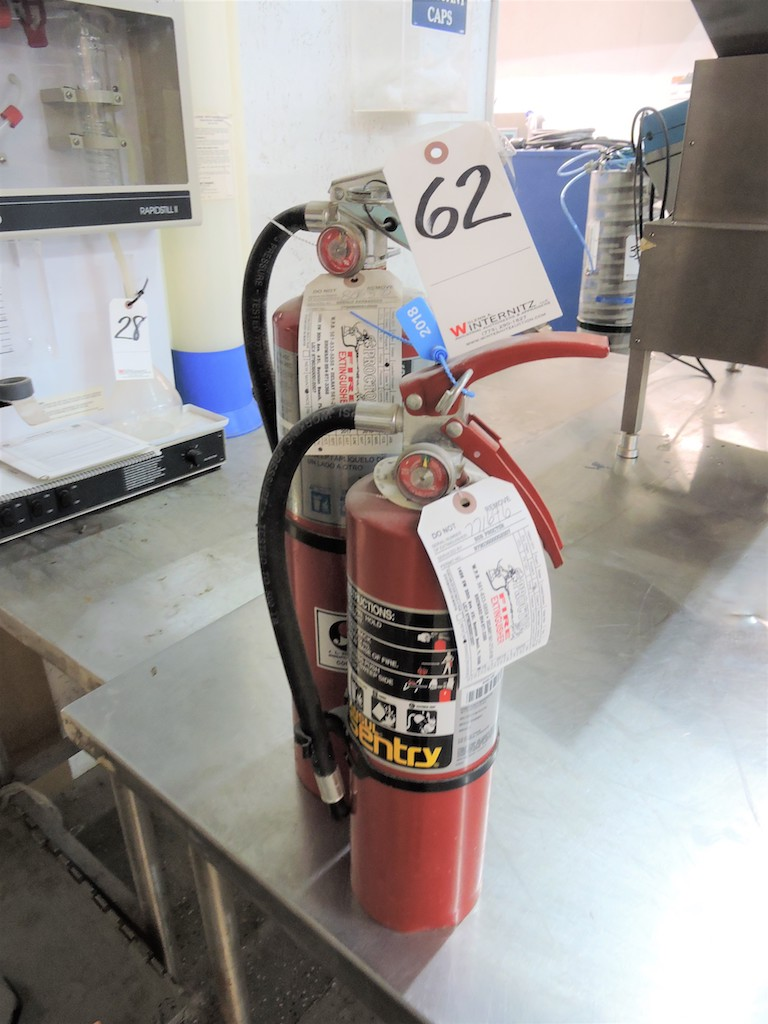 Lot 62 - FIRE EXTINGUISHERS (4) IN PACKAGE ALL CURRENT