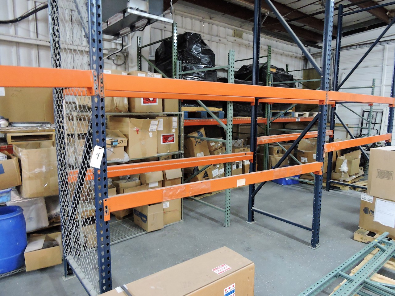 """Lot 4 - PALLET RACKING 4 UPRIGHTS 10 BEAMS 42"""" WIDE X 96"""" LONG X 12 FT HIGH 5000 LB LOAD CAPACITY"""
