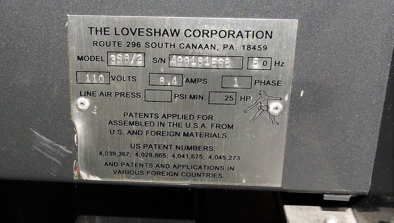 "Lot 43 - LOVESHAW LITTLE DAVID CASE TAPER MODEL 3SB2 18"" X 58"""