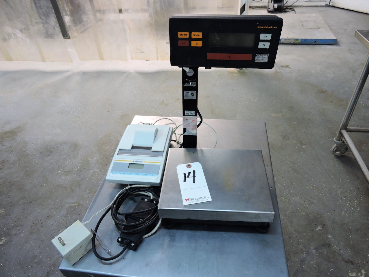 Lot 13 - SARTORIUS SCALE AND PRINTER QS4000 4KG MADE IN GERMANY