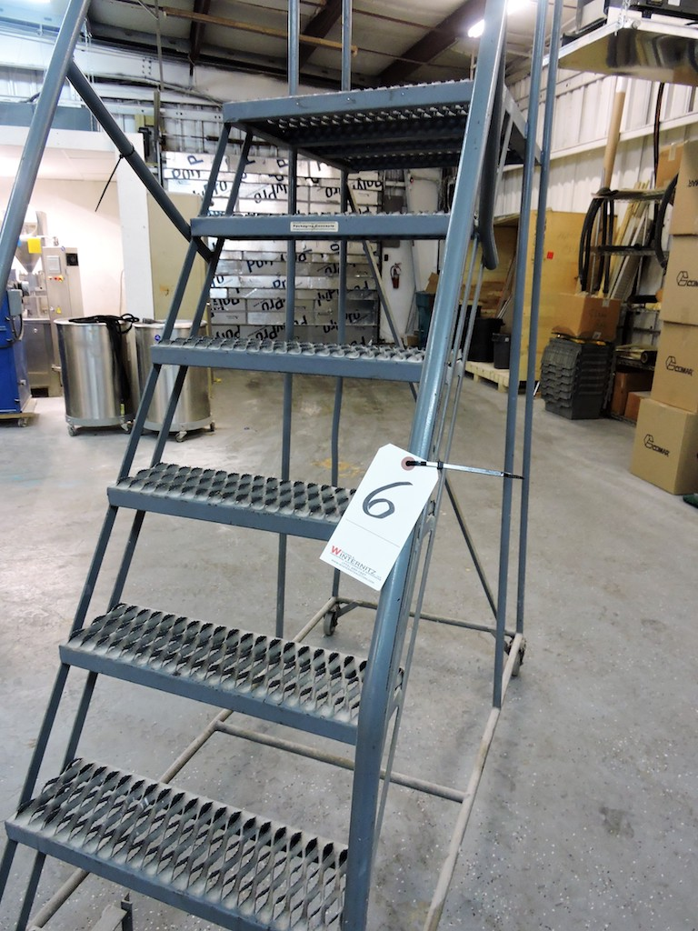 """Lot 6 - ROLLING STAIR/LADDER WITH LOCKING FEATURE 72"""" HIGH"""