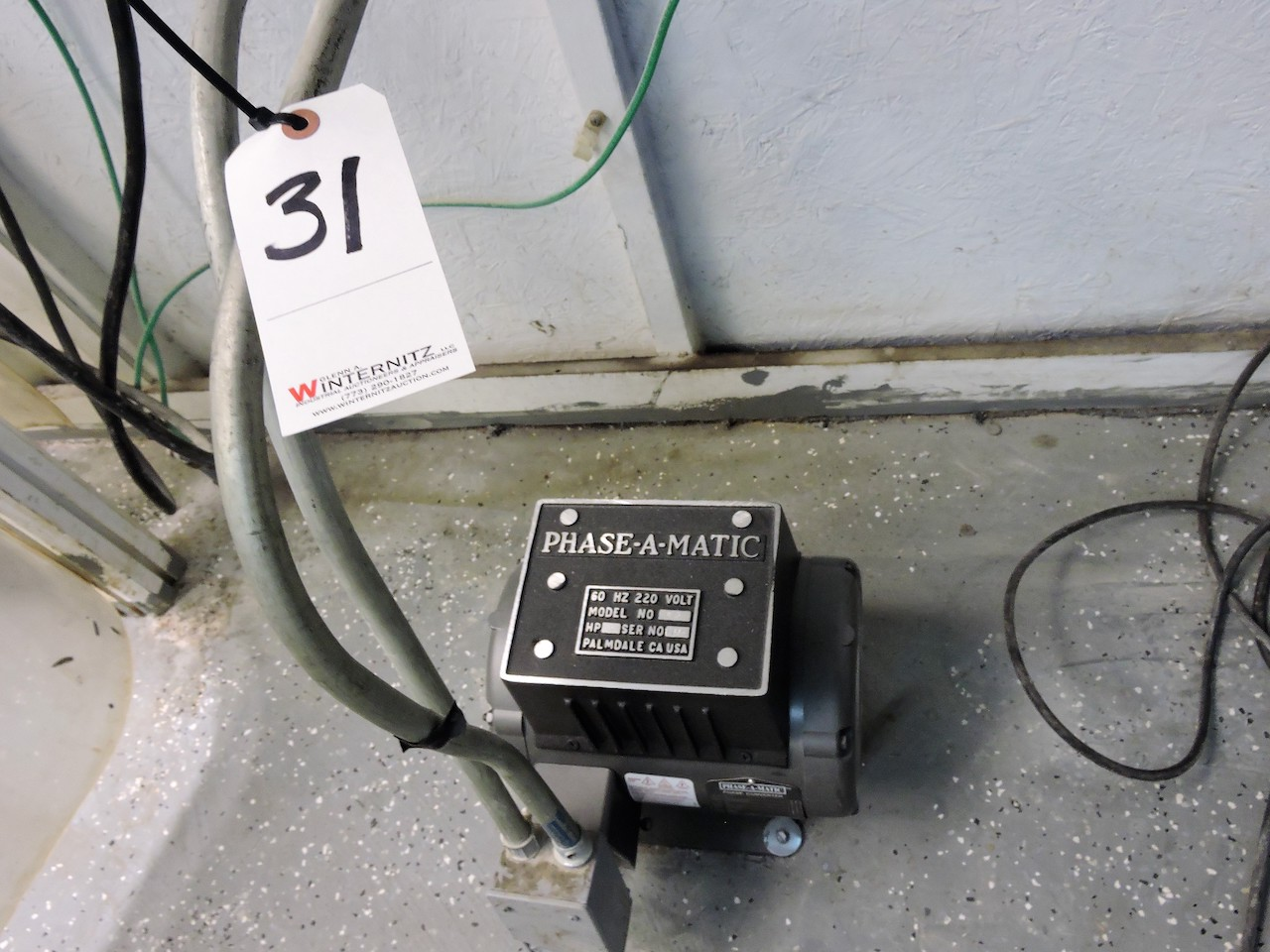 Lot 31 - PHASEMATIC R-3 PHASE CONVERTER 3 HP