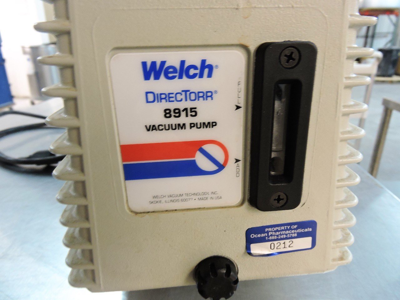 Lot 22 - WELCH 5 VACUUM PUMP DIRECTORR 8915 ½ HP