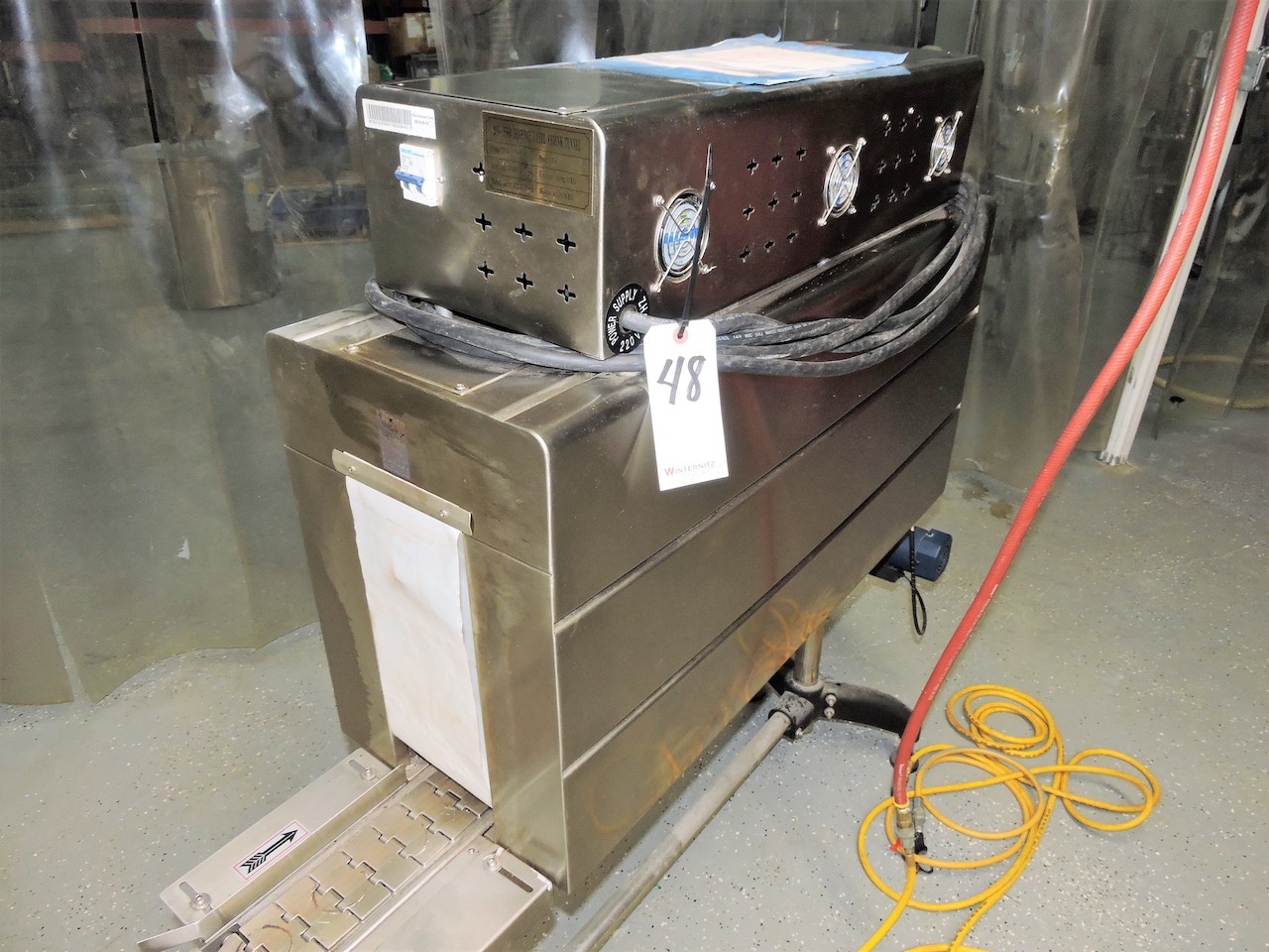 Lot 48 - BSS MODEL 1538B LABEL SHRINK PACKAGER ON STAND