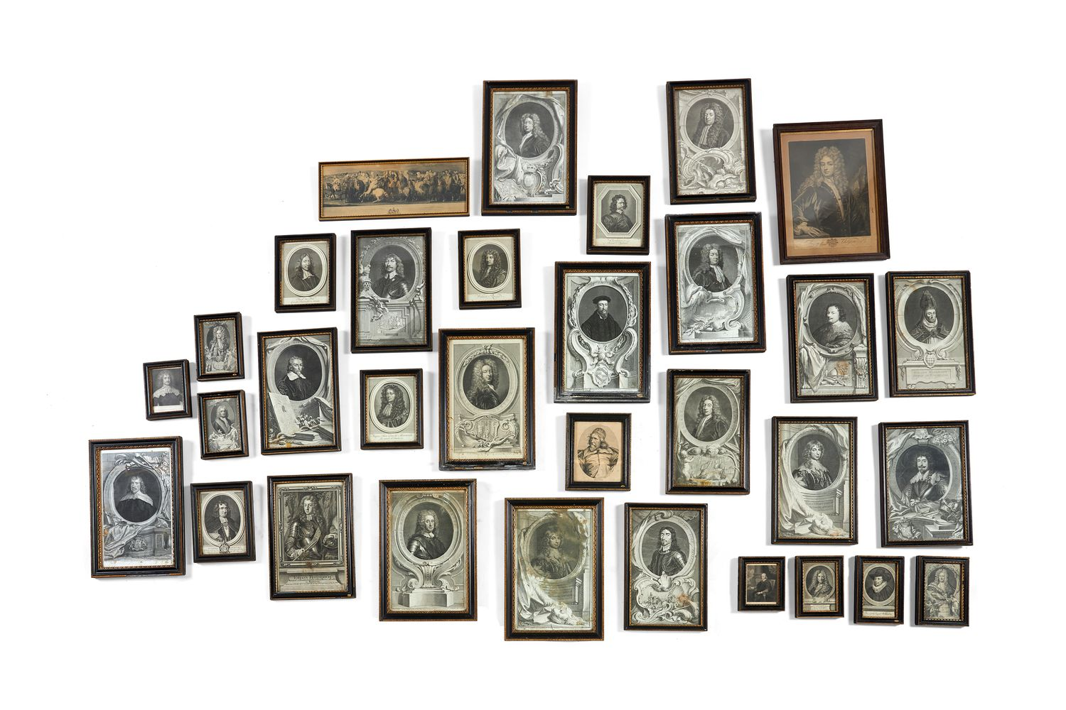 A large quantity of mezzotints of notable people