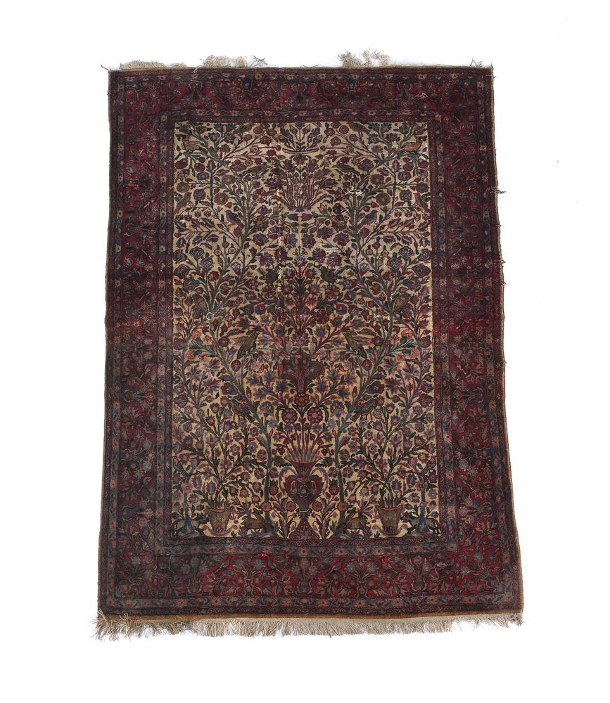 A North West Persian runner, small North West Persian rug and a Kashan rug - Image 2 of 4